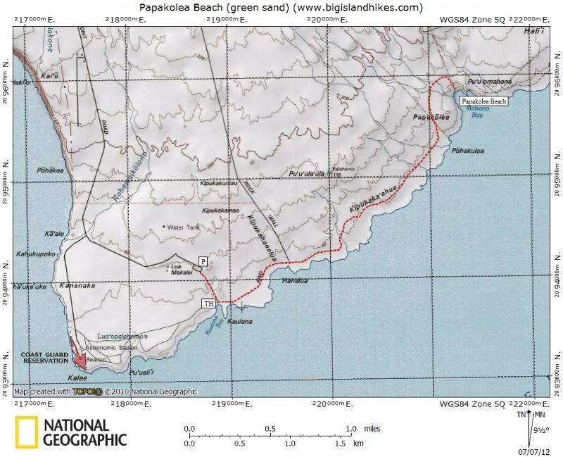south_island_papakolea_beach_green_sand_map